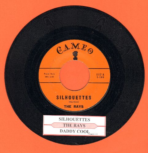 Rays - Silhouettes/Daddy Cool (orange label with juke box label) - EX8/ - 45 rpm Records