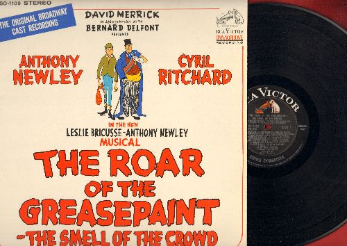 The Roar Of The Greasepaint - The Smell Of The Crowd - The Roar Of The Greasepaint - The Smell Of The Crowd: Oriignal Broadway Cast Recording starring Anthony Newley and Cyril Ritchard (Vinyl STEREO LP record) - NM9/EX8 - LP Records