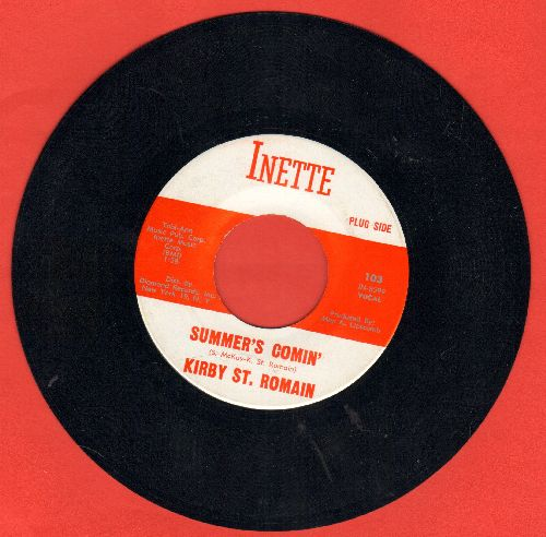 St. Romain, Kirby - Walk On/Summer's Comin' - NM9/ - 45 rpm Records