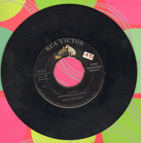 Ronald & Ruby - Lollipop/Fickle Baby  - EX8/ - 45 rpm Records