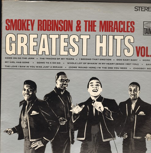 Robinson, Smokey & The Miracles - Greatest Hits Vol. 2: Come On Do The Jerk, The Tracks Of My Tears, I Second That Emotion, Ooo Baby Baby, Going To A Go Go (Vinyl LP record) - NM9/EX8 - LP Records