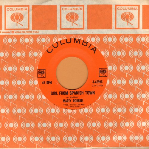 Robbins, Marty - Girl From Spanish Town/Kingston Girl (with Columbia company sleeve) - NM9/ - 45 rpm Records