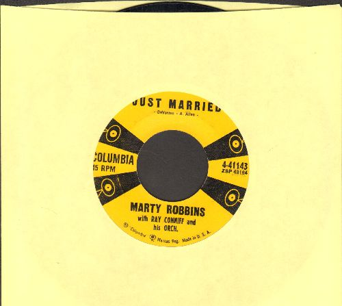 Robbins, Marty - Just Married/Stairway Of Love  - EX8/ - 45 rpm Records