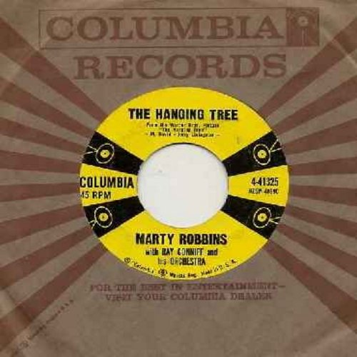 Robbins, Marty - The Hanging Tree (Love Theme from film -The Hanging Tree-)/The Blues Country Style (with vintage Columbia company sleeve) - EX8/ - 45 rpm Records