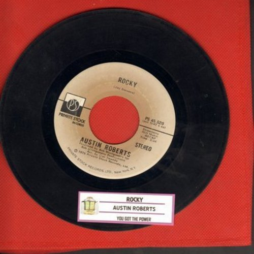 Roberts, Austin - Rocky/You Got The Power (Original 1975 tear-jerker, with juke box label) - EX8/ - 45 rpm Records