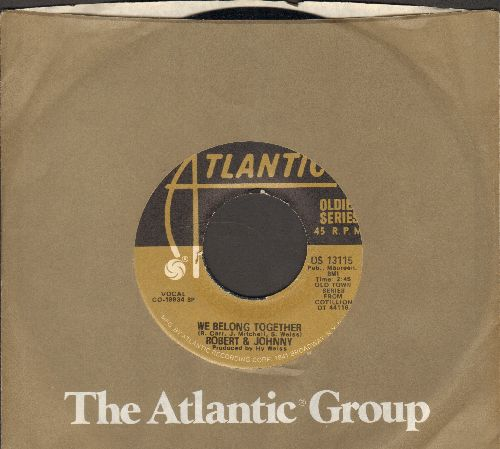Robert & Johnny - We Belong Together/So Fine (by The Fiestas on flip-side) (double-hit re-issue with Atlantic company sleeve) - NM9/ - 45 rpm Records