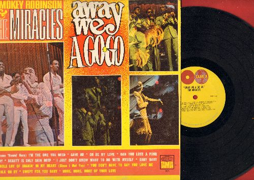 Robinson, Smokey & The Miracles - Away We A Go-Go: Beauty Is Only Skin Deep, You Don't Have To Say You Love Me, Walk On By (Vinyl MONO LP record) - EX8/NM9 - LP Records