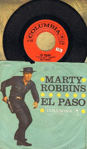 Robbins, Marty - El Paso/Running Gun (first issue with picture sleeve) - NM9/EX8 - 45 rpm Records