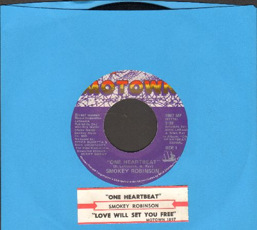 Robinson, Smokie - One Haertbeat/Love Will Set You Free (with juke box label) - NM9/ - 45 rpm Records