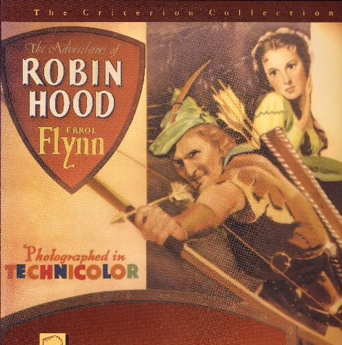 Robin Hood - Robin Hood - LASERDISC version of the 1938 Technicolor Film starring Errol Flynn and Olivia De Haviland. Criterion Collection (This ia a LASERDISC, not any other kind of media!) - NM9/NM9 - LaserDiscs