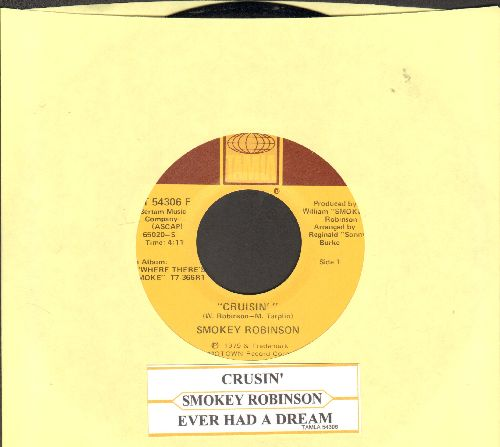Robinson, Smokey - Crusin'/Ever Had A Dream (with juke box label) - NM9/ - 45 rpm Records