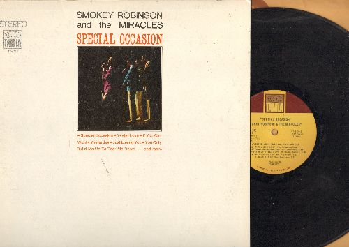 Robinson, Smokey & The Miracles - Special Occasion: Yester Love, Give Her Up, I Heard It Through The Grapevine, Yesterday, Much Better Off (Vinyl STEREO LP record, RARE small picutre cover pressing!) - VG7/EX8 - LP Records