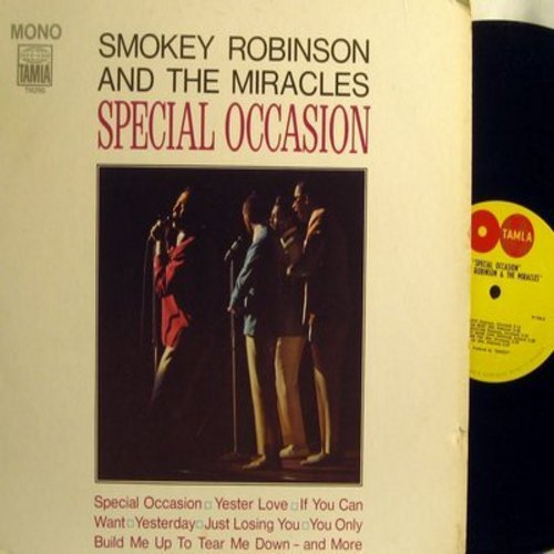 Robinson, Smokey & The Miracles - Special Occasion: Yester Love, Give Her Up, I Heard It Through The Grapevine, Yesterday, Much Better Off (Vinyl MONO LP record, 2 globes label first pressing) - NM9/VG7 - LP Records