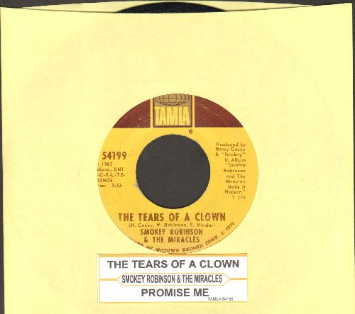Robinson, Smokey & The Miracles - The Tears Of A Clown/Promise Me (with juke box label) - NM9/ - 45 rpm Records