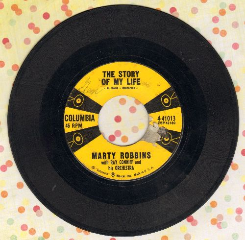 Robbins, Marty - The Story Of My Life/Once-A-Week Date (with juke box label) - VG6/ - 45 rpm Records