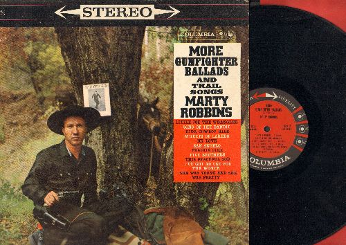 Robbins, Marty - More Gunfighter Ballads And Trail Songs: Streets Of Laredo, Five Brothers, She Was Young And She Was Pretty (Vinyl STEREO LP record) - VG7/VG7 - LP Records
