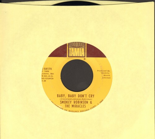 Robinson, Smokey & The Miracles - Baby, Baby Don't Cry/Your Mother's Only Daughter (bb) - EX8/ - 45 rpm Records