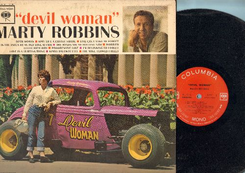 Robbins, Marty - Devil Woman: Little Rich Girl, Ain't Life A Crying Shame, Progressive Love (vinyl STEREO LP record) - EX8/VG7 - LP Records