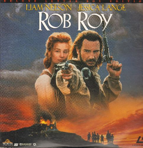 Rob Roy - Rob Roy - The Adventure Classic starring Liam Neeson and Jessica Lange  on 2 LASERDISC, Deluxe Letter Box Edition (These are LASERDISCS, not any other kind of media!) - NM9/EX8 - LaserDiscs