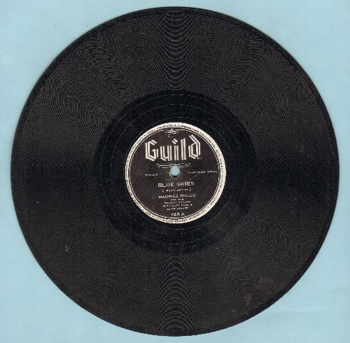 Rocco, Maurice - Blue Skies/Lullaby Of Broadway (10 inch 78 rpm record) - VG7/ - 78 rpm
