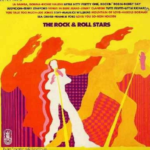 Valens, Ritchie, Bobby Day, Ron Holden, Frankie Ford, others - The Rock And Roll Stars - Original recordings by the original hit artists: La Bamba, Rockin' Robin, Venus In Blue Jeans, Love You So, Sea Cruise, You Talk Too Much (Vinyl STEREO LP record) - E