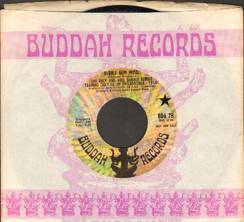 Rock And Roll Dubble Bubble Traiding Card Co. Of Philadelphia 19141 - Bubble Gum Music/On A Summer Night (DJ advance pressing with Buddah company sleeve) - NM9/ - 45 rpm Records