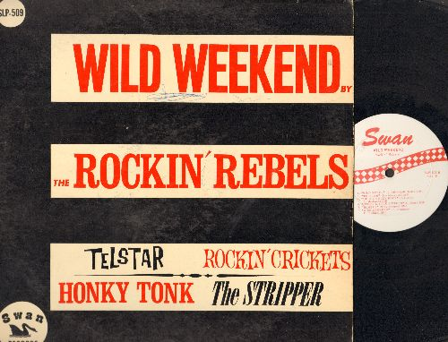 Rockin' Records - Wild Weekend: Telstar, Rockin' Crickets, The Stripper, Honky Tonk, Hully Gully Rock (Vinyl MONO LP record) - VG7/VG6 - LP Records
