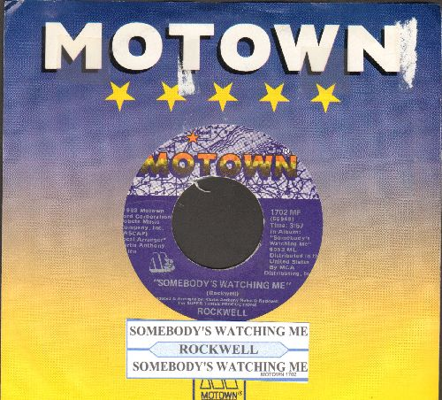 Rockwell - Somebody's Watching Me/Somebody's Watching Me (Instrumental) (HALLOWEEN FAVORITE!)(with juke box label and company sleeve) - NM9/ - 45 rpm Records