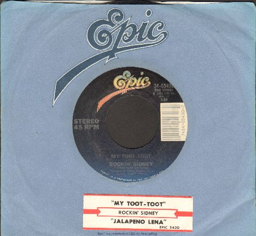 Rockin' Sidney - My Toot-Toot (PARTY FAVORITE!)/Jalapeno Lena (with Epic company sleeve and juke box label) - EX8/ - 45 rpm Records