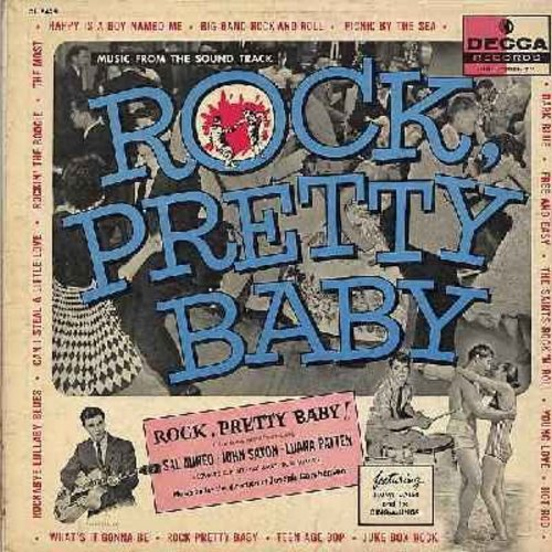 Daley, Jimmy & His Ding-A-Lings, Alan Copeland, Rod McKuen, others - Rock, Pretty Baby - Original Motion Picture Sound Track (Vinyl MONO LP record, pink label DJ advance copy) - VG7/VG6 - LP Records