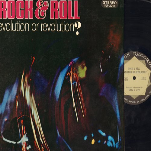 Nite, Norm N. - Rock & Roll Evolution Or Revolution? - A Summary of Rock & Roll History including segments from more than 40 Vintage Classics, produced and narrated by Norm M. Nite (Vinyl STEREO LP record, gate-fold cover, bb) - EX8/EX8 - LP Records