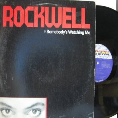 Rockwell - Somebody's Watching Me: Obscene Phone Caller, Taxman, Runaway, Foreign Country (Vinyl LP record) - EX8/VG7 - LP Records