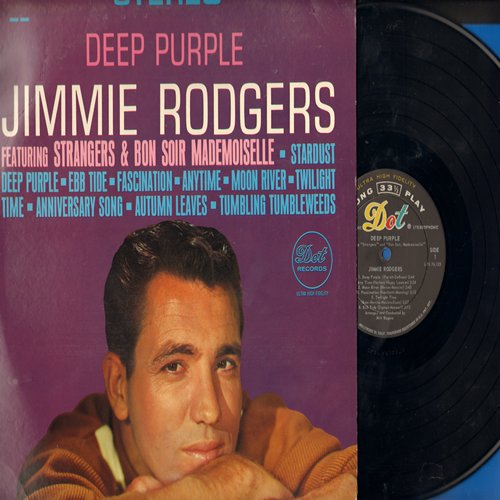 Rodgers, Jimmie - Deep Purple: Strangers, Moon River, Fascination, Twilight Time, Tumbling Tumbleweeds (Vinyl STEREO LP record, NICE condition!) - M10/EX8 - LP Records