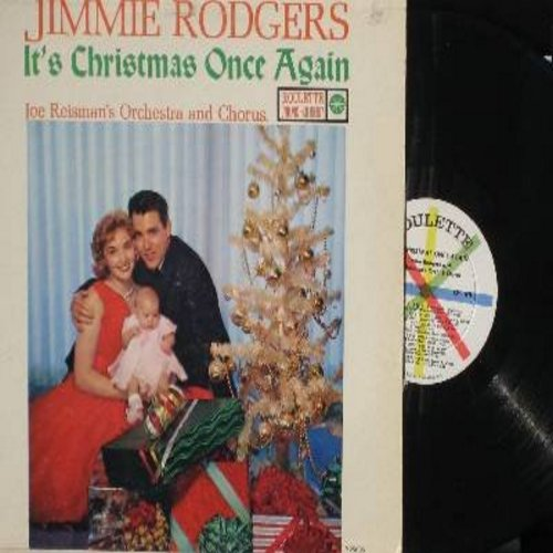 Rodgers, Jimmie - It's Christmas Once Again: The First Noel, Silent Night, White Christmas, The Christmas Song (Vinyl MONO LP record) - NM9/VG7 - LP Records