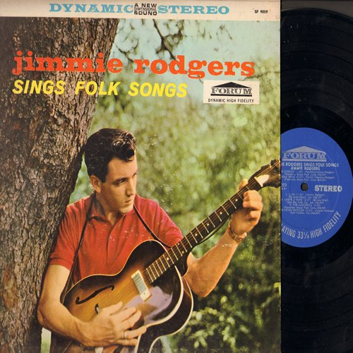 Rodgers, Jimmie - Jimmie Rodgers Sings Folk Songs: Waltzing Matilda, Liza, Black Is The Color, Bo Diddley, Riddle Song (Vinyl STEREO LP record, early re-issue) - NM9/EX8 - 45 rpm Records