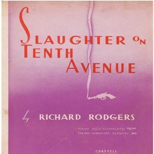 Rodgers, Richard - Slaughter On Tenth Avenue - Vintage SHEET MUSIC of the classic Jazz Instrumental (This is SHEET MUSIC, not any other kind of media!) - EX8/ - Sheet Music