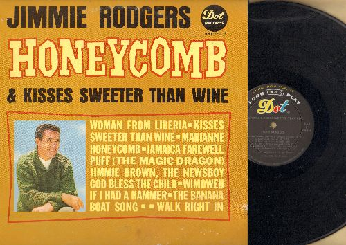 Rodgers, Jimmie - Honeycomb & Kisses Sweeer Than Wine: If I Had A Hammer, Walk Right In, The Banana Boat Song, Jamaica Farewell (vinyl MONO LP record) - NM9/VG6 - LP Records