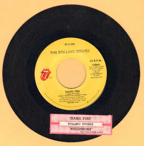 Rolling Stones - Hang Fire/Neighbours (with juke box label) - EX8/ - 45 rpm Records