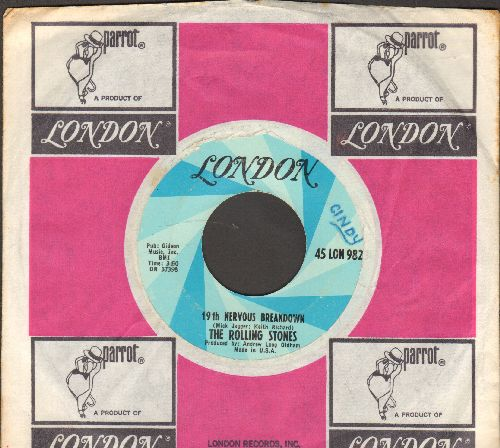Rolling Stones - Silver Train/Angie (with juke box label) - EX8/ - 45 rpm Records