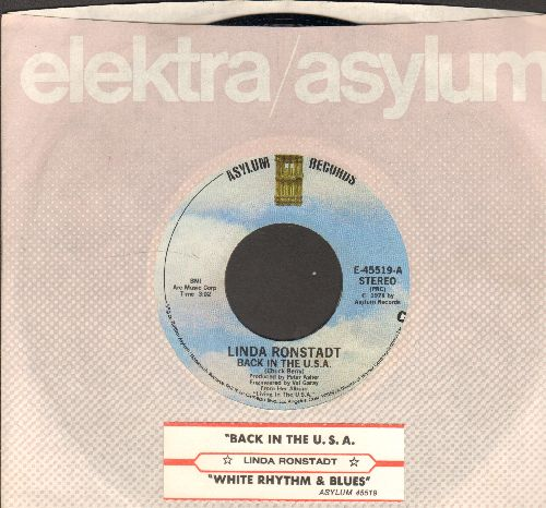 Ronstadt, Linda - Back In The U.S.A./White Rhythm & Blues (with juke box label) - EX8/ - 45 rpm Records
