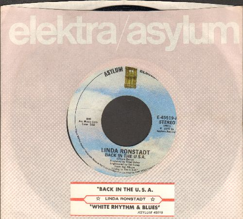 Ronstadt, Linda - Back In The U.S.A./White Rhythm & Blues (with juke box label and company sleeve) - NM9/ - 45 rpm Records