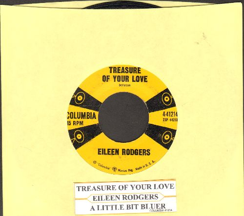 Rodgers, Eileen - Treasure Of Your Love/A Little Bit Bluer (with juke box label) - NM9/ - 45 rpm Records