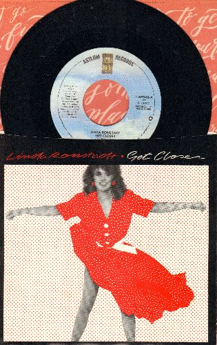 Ronstadt, Linda - Get Closer/Sometimes You Just Can't Win (with picture sleeve) - M10/EX8 - 45 rpm Records