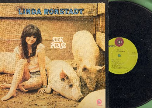 Ronstadt, Linda - Silk Purse: Long Long Tie, I'm Leavin' It All Up To You, Will You Love Me Tomorrow (Vinyl STEREO LP record) - EX8/EX8 - LP Records