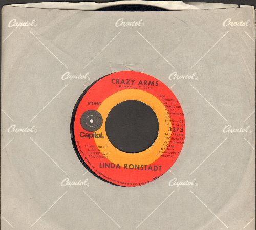 Ronstadt, Linda - Crazy Arms/Rock Me On The Water (with Capitol company sleeve) - NM9/ - 45 rpm Records