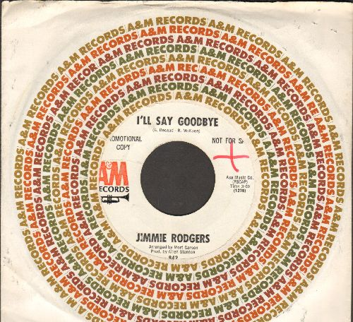 Rodgers, Jimmie - I'll Say Goodbye/Shadows (DJ advance pressing with company sleeve) - NM9/ - 45 rpm Records