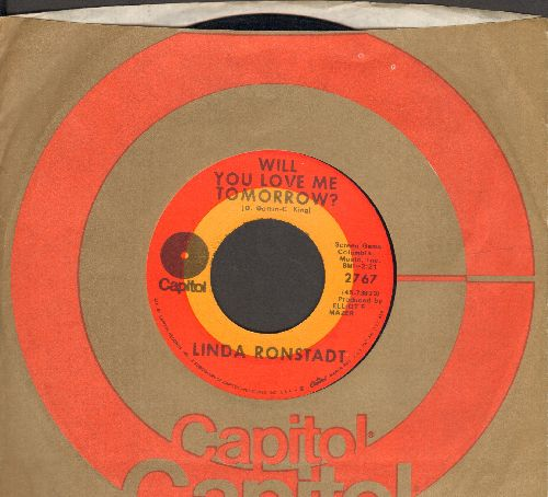 Ronstadt, Linda - Will You Love Me Tomorrow/Lovesick Blues (with Capitol company sleeve) - NM9/ - 45 rpm Records