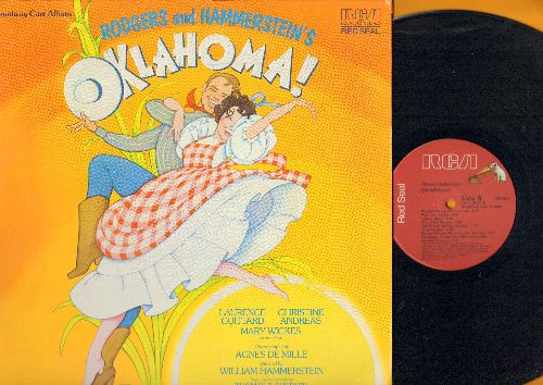 Oklahoma! - Oklahoma! - 1979 Broadway Cast starring Laurence Guittard, Christine Andreas and Mary Wickes (Red Seal pressing, gate-fold cover) - NM9/EX8 - LP Records