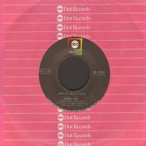 Roe, Tommy - Jam Up Jelly Tight/Moontalk (with ABC company sleeve) - EX8/ - 45 rpm Records