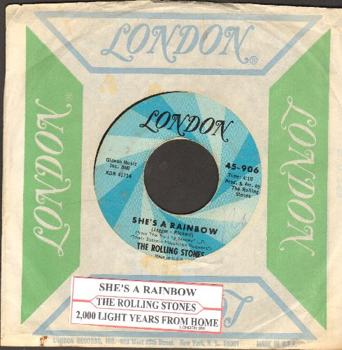Rolling Stones - She's A Rainbow/2,000 Light Years From Home (with juke box label and London company sleeve) - EX8/ - 45 rpm Records